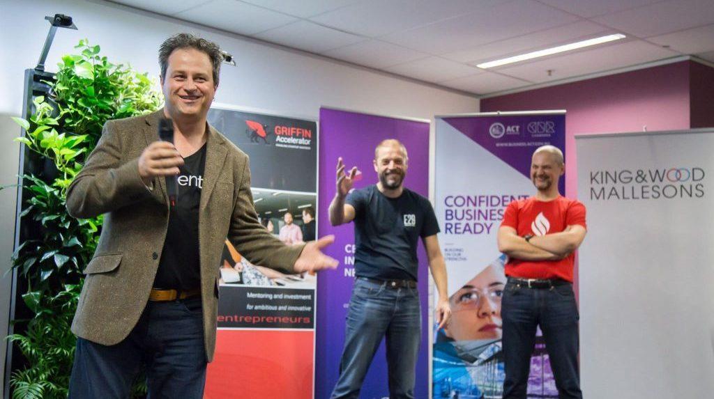 Matt Bullock speaking at a Canberra Innovation Network event