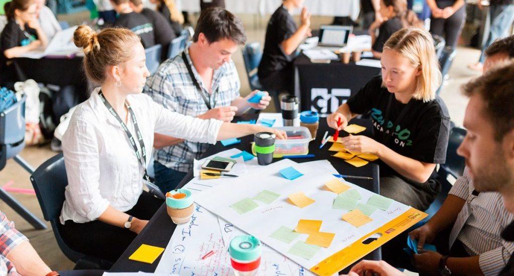 Action shot from the ZeroCo2 Hackathon
