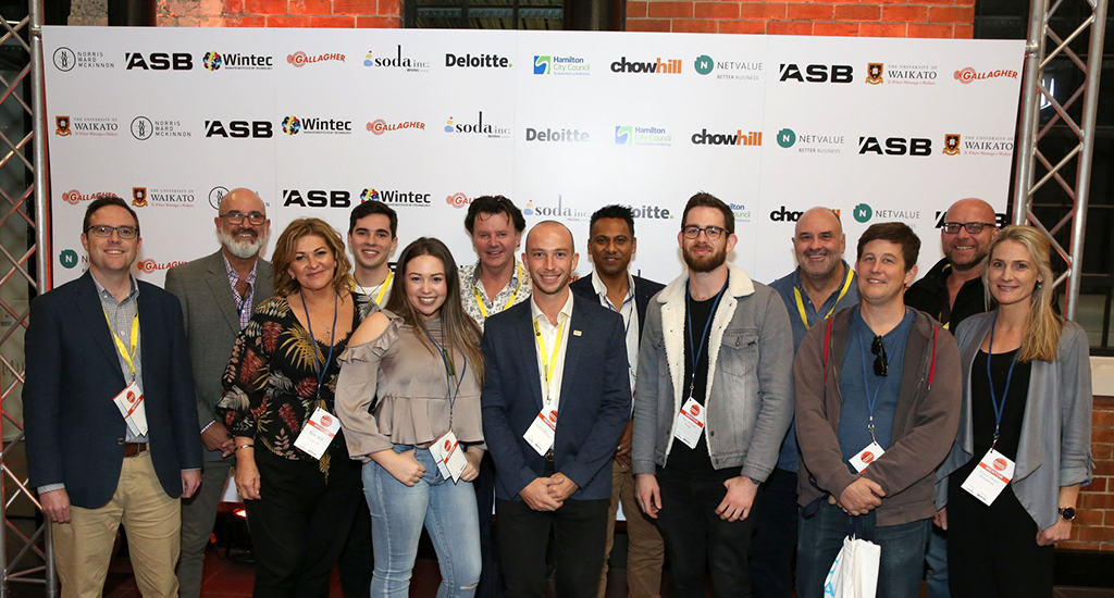 Collaborative Innovation Expert Joel Anderson with mentors at a Soda Inc. event in New Zealand.