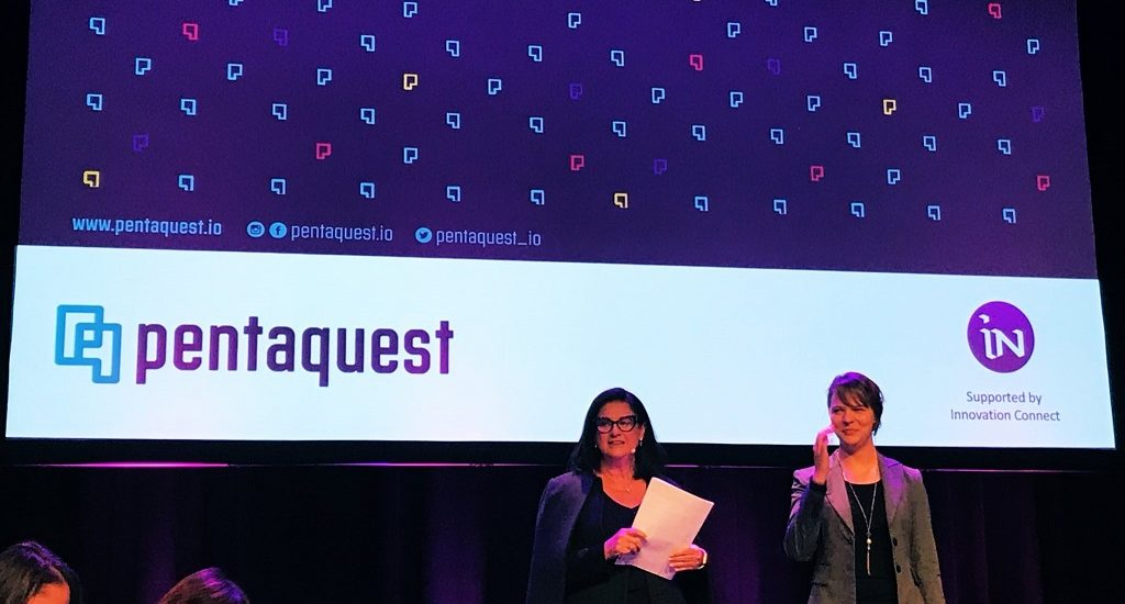 Pentaquest pitching at the Austalian Woman In Tech pitching event.