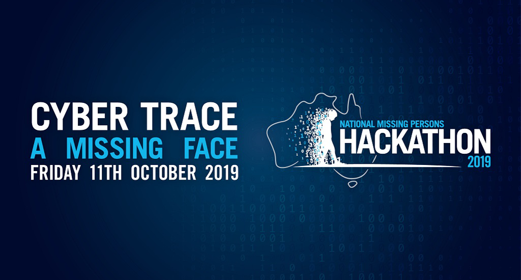 National Missing Persons Hackathon promo