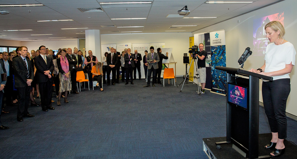 Chief Minister Katy Gallagher launching the Canberra Innovation Network