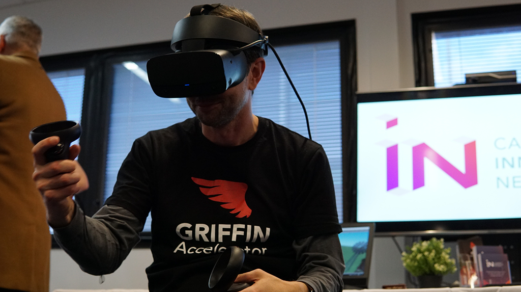 GRIFFIN Accelerator company RecoveryVR showcasing