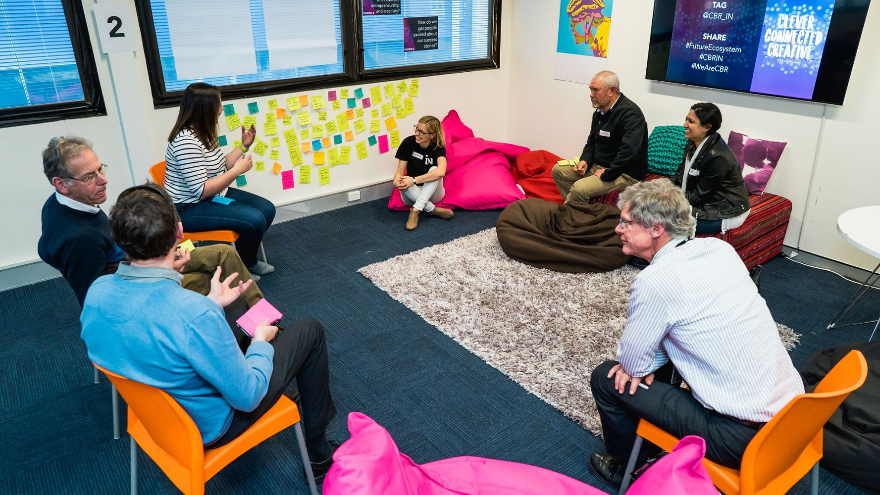 A workshop being run by the Canberra Innovation Network