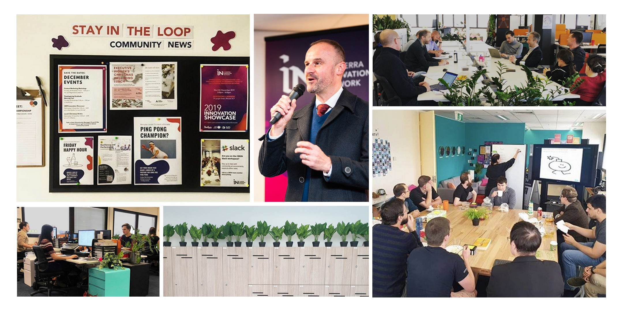 collage of coworking images