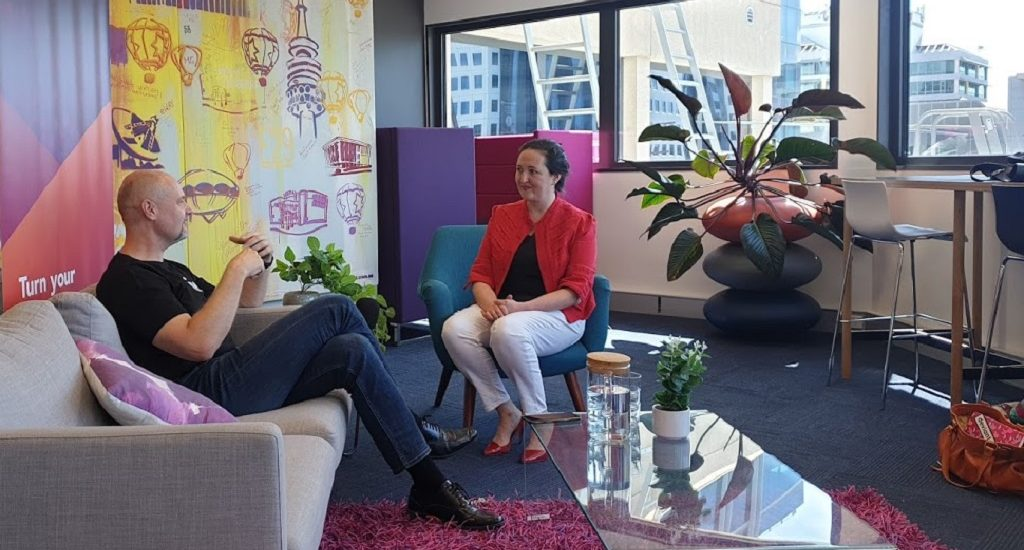 Jen Seyderhelm talks with Petr Adámek, CEO of Canberra Innovation Network.