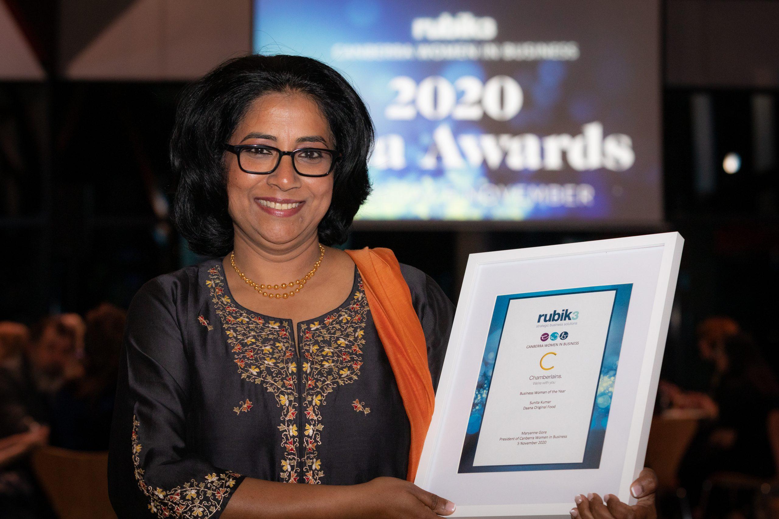 2020 Canberra Business Woman of the Year, Sunita Kumar