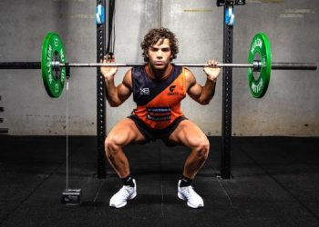 Athlete using GymAware