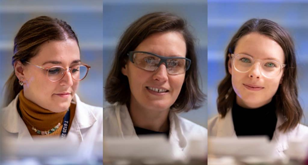 Dr Annamaria DeRosa, Dr Caitlin Byrt and Dr Samantha McGaughey formed the MTE company after last year's hackathon. Photo: MTE.